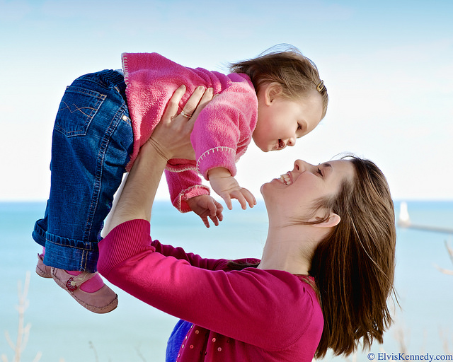 母親と子供